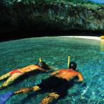 Playa Escondida or Hidden Beach in Mexico
