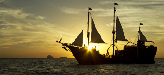 The Jolly Roger pirate ship - Cancun's Top 10 Activities